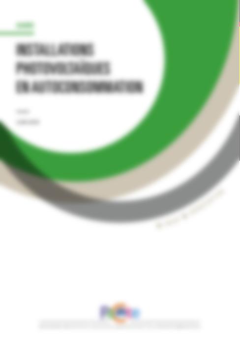 Autoconsommation PV : nouveau guide du PACTE